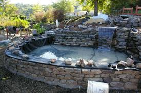 Building a raised pond for Concrete fish pond construction and design