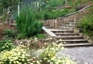how to manage sloping gardens