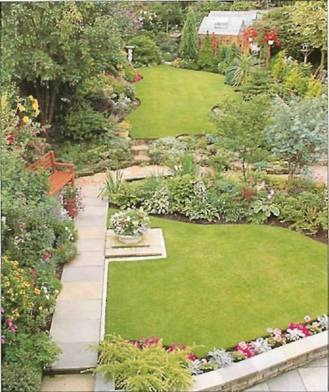 break up the length of a long thin garden with room like areas of
