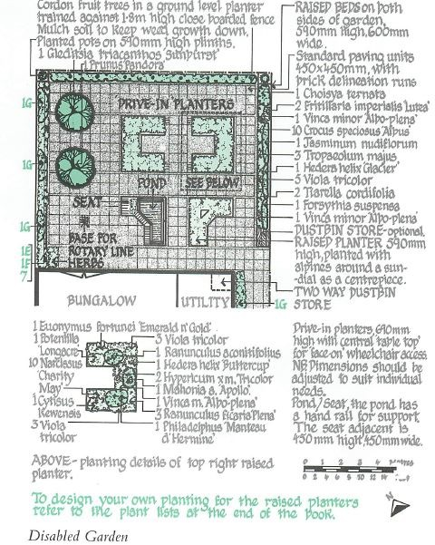 Disabled garden designs for Garden design for disabled