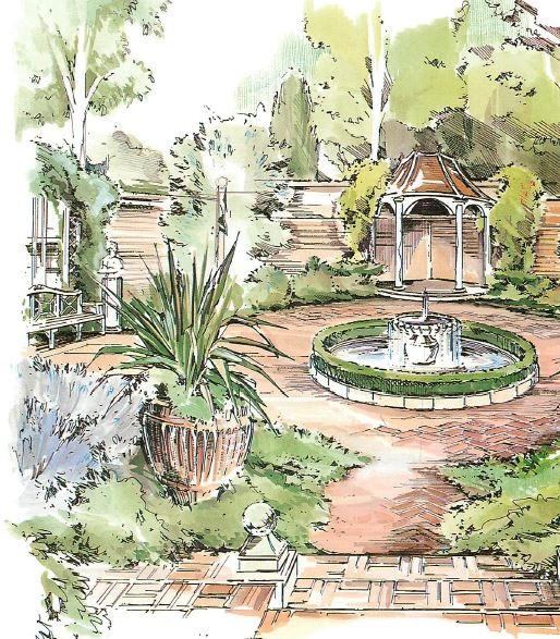 Georgian garden designs for Garden design georgian house